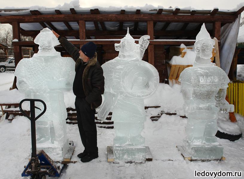 Три богатыря изо льда