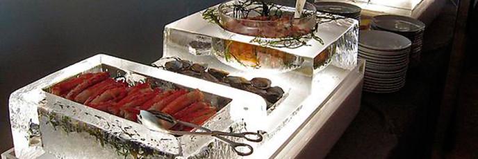 Ледяное оформление банкетов