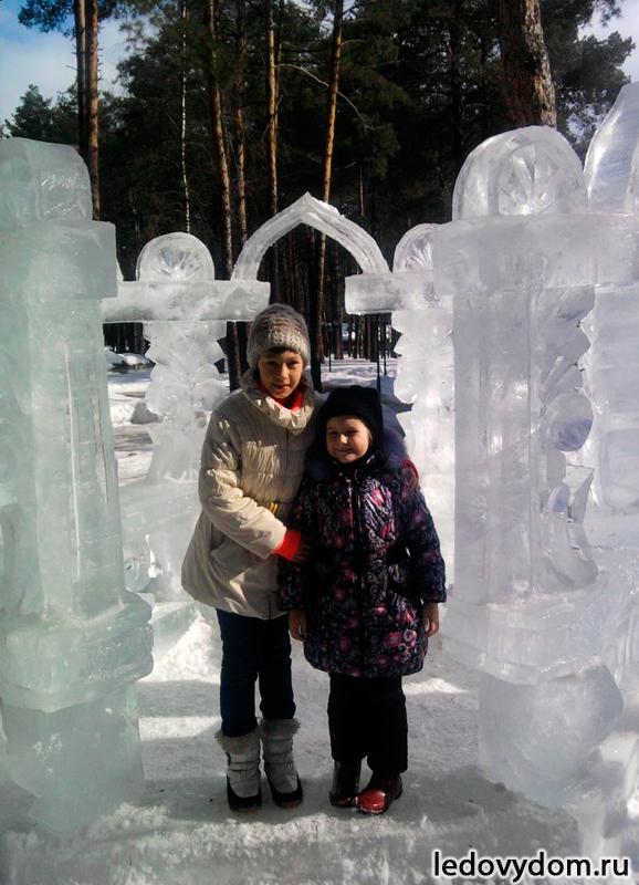 Ледяная беседка на праздник