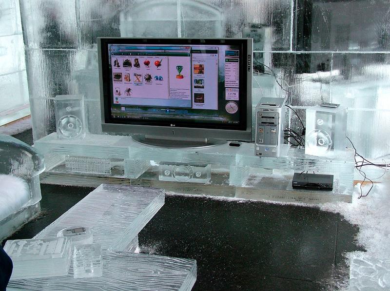 Гостиная изо льда