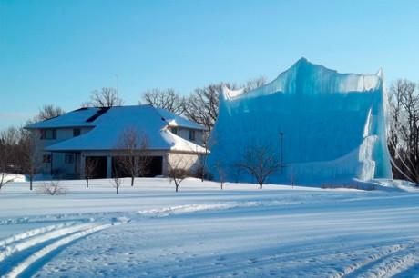 Ледяной замок в Миннесоте