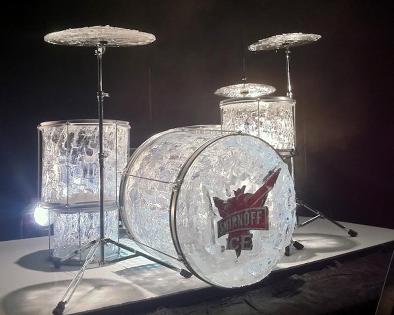 Ледяные барабаны для рекламной акции