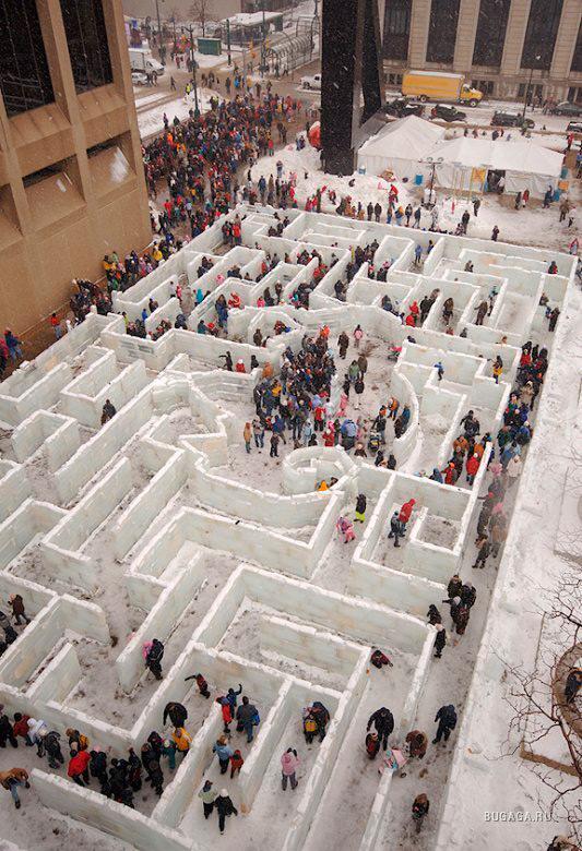 Лабиринт изо льда в Буффало