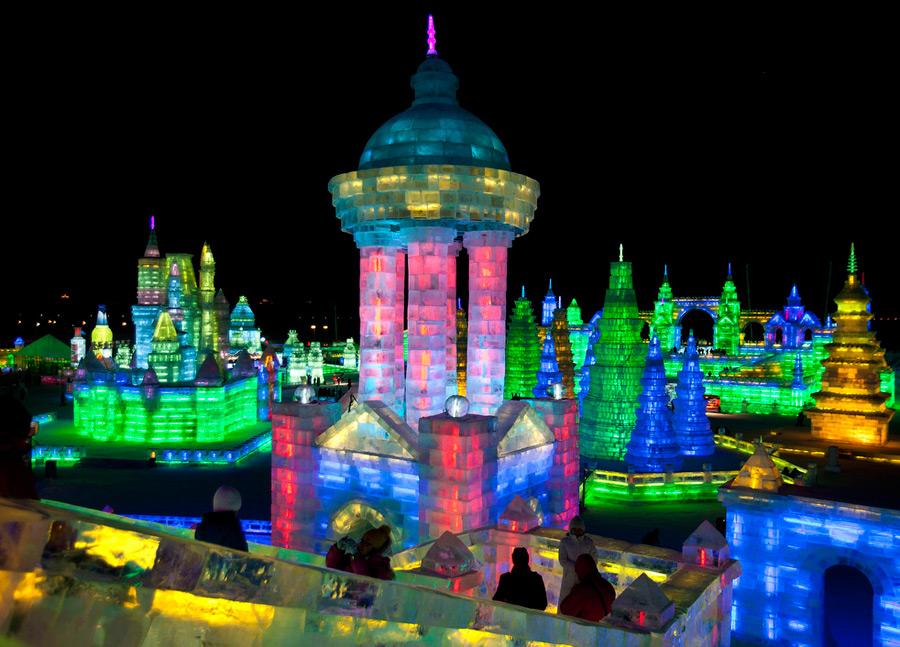 Мир льда на фестивале в Харбине