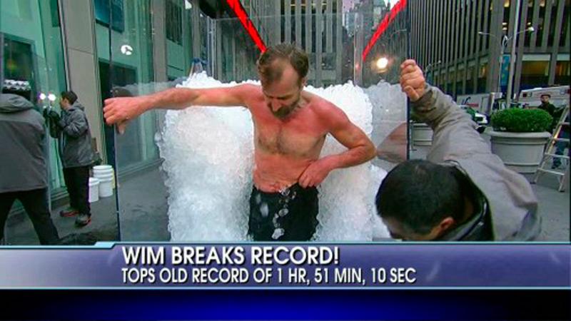 Вим Хоф установил новый рекорд по пребыванию во льду