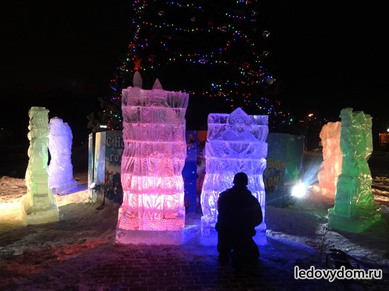 Цветная подсветка ледяных скульптур