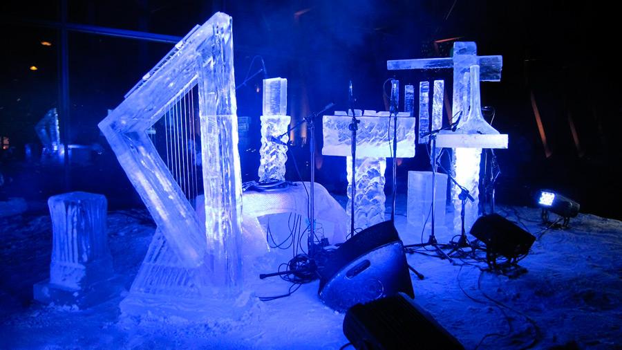 Ледяные музыкальные инструменты