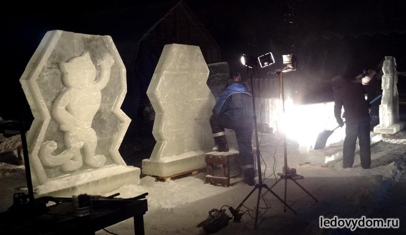 Процесс изготовления ледяных талисманов