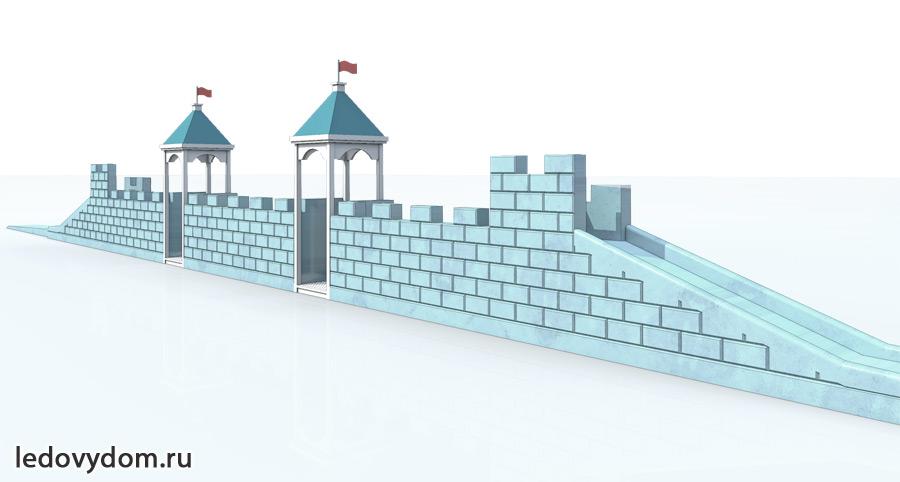 Эскиз ледяной крепости