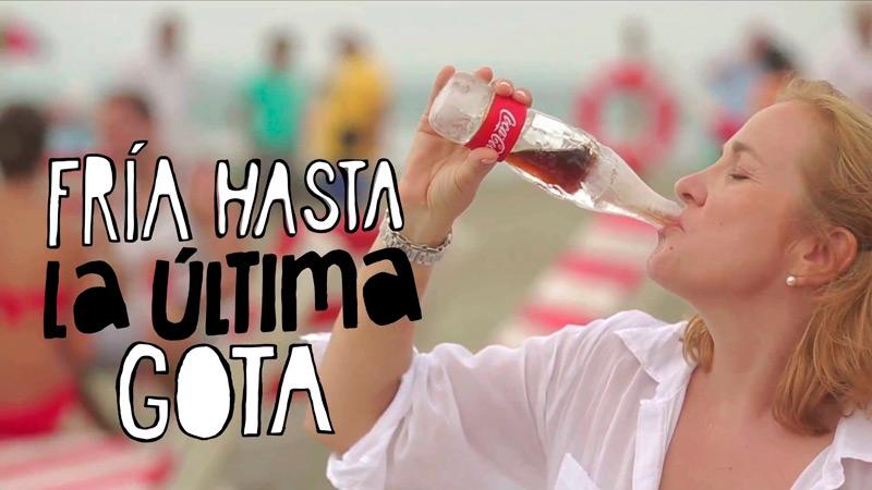 Ледяная бутылка Coca-Cola
