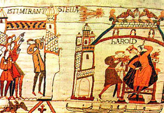 Илл.1 - Изображение кометы Галлея. Гобелен из Байе, Франция, ок.1070 г.
