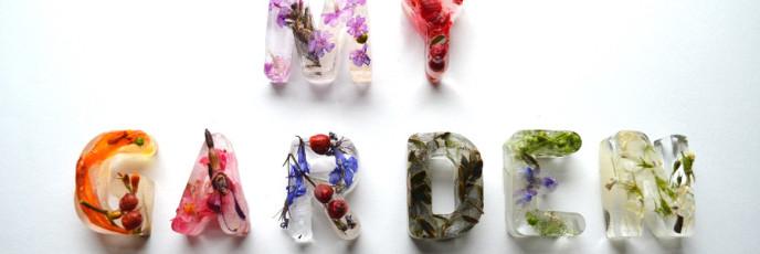 Цветочный ледяной алфавит