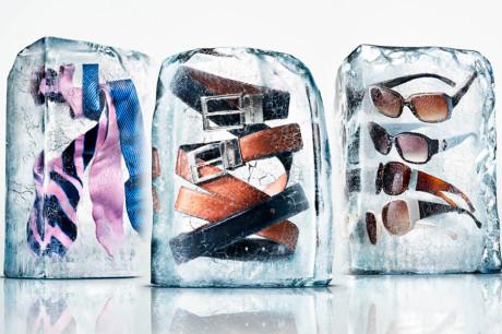 Модные вещи во льду