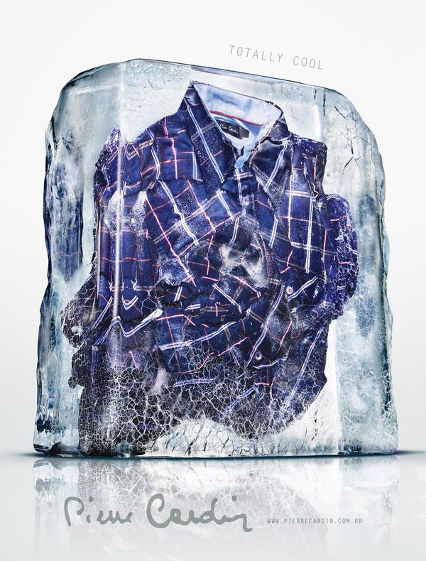 Рубашка в блоке изо льда