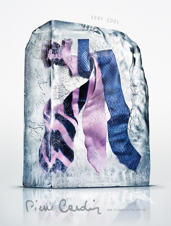 Галстуки в ледяном блоке