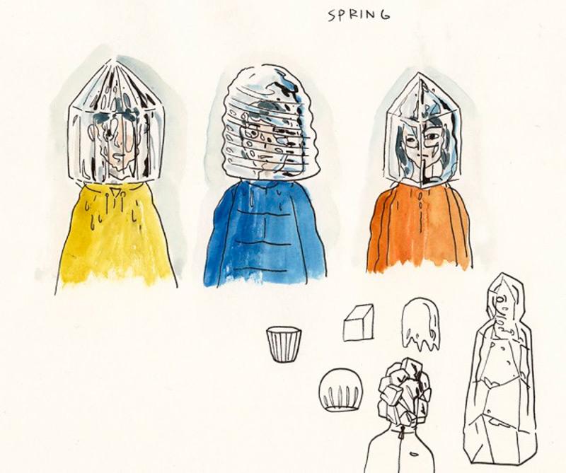 Эскизы ледяных масок