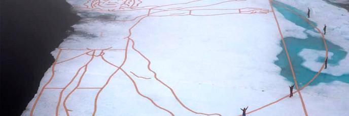Витрувианский человек на льду