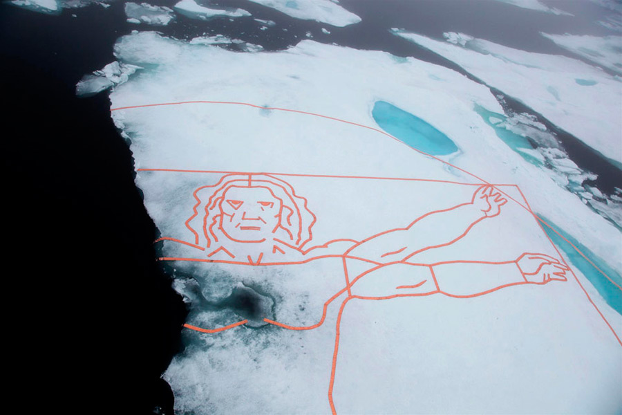 Самый большой арт-объект созданный на Северном полюсе