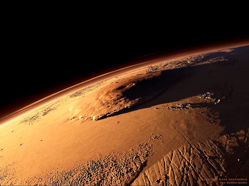 Илл.2 - Марсианский вулкан