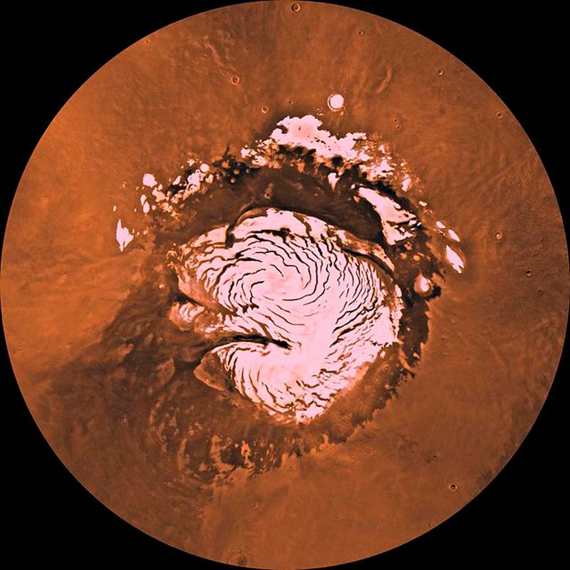 Илл.3 - Северная полярная шапка Марса