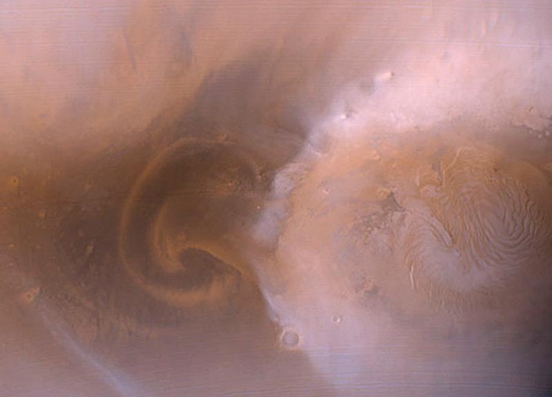 Илл.4 - Огромная пылевая буря на Марсе