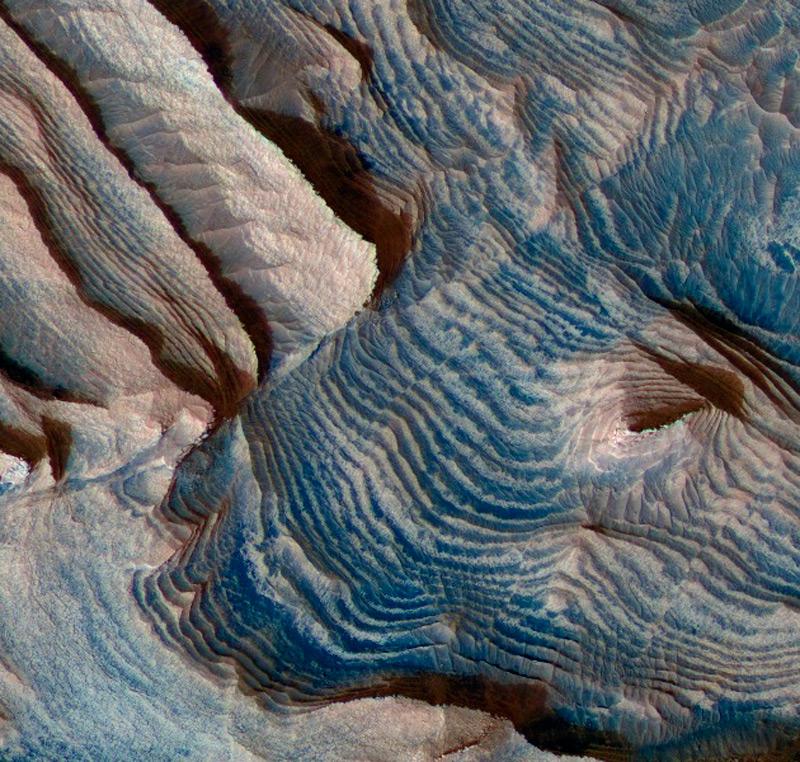 Илл.6 - Фрагмент Северной шапки Марса