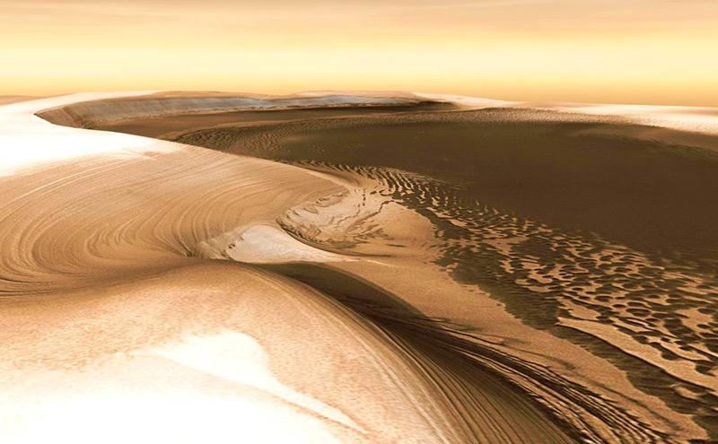Илл.7 - Край южной ледяной шапки Марса