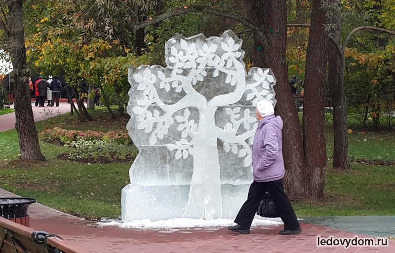 Ледяная скульптура в парке Ветеран