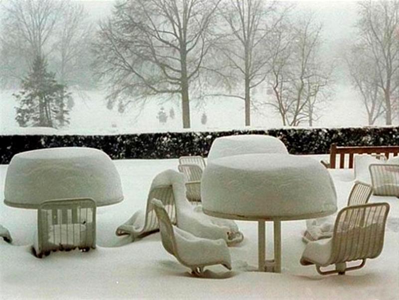 Зимняя сервировка стола