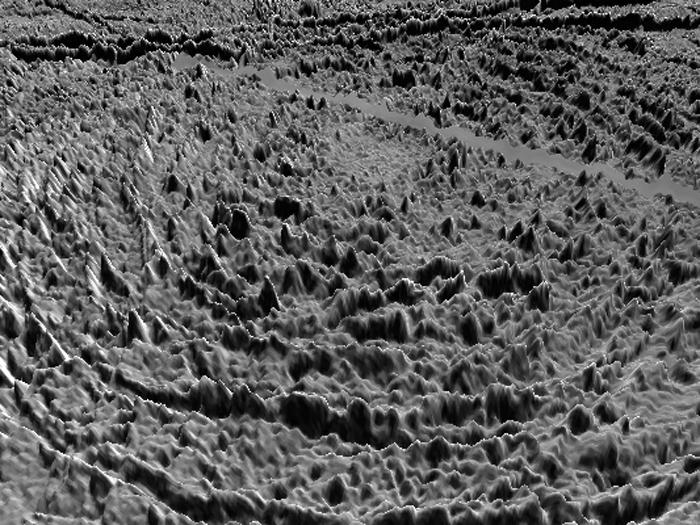 Илл.16. Трехмерная модель кратера Тайр.