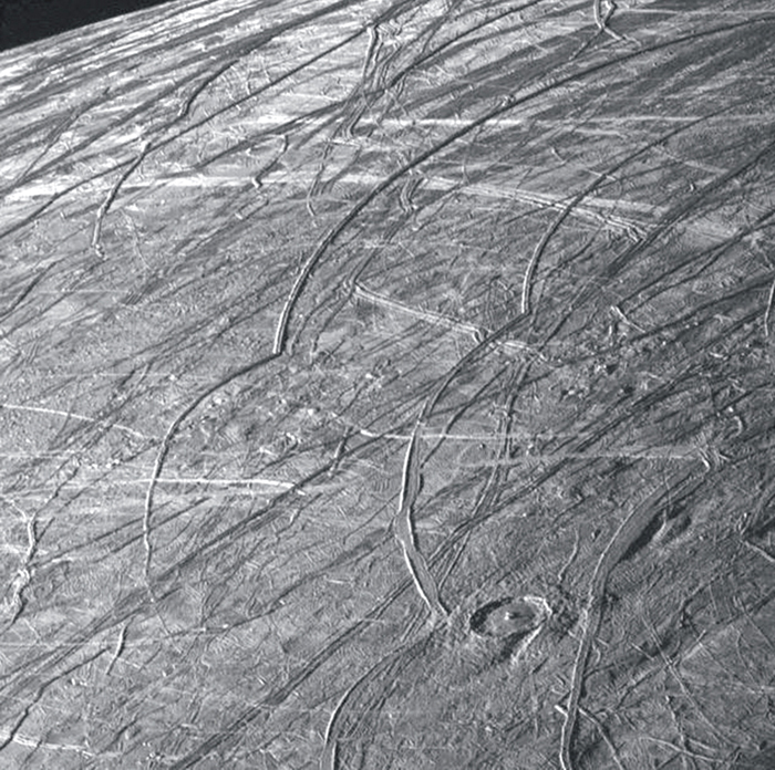 Илл.7. Циклоиды на поверхности Европы.