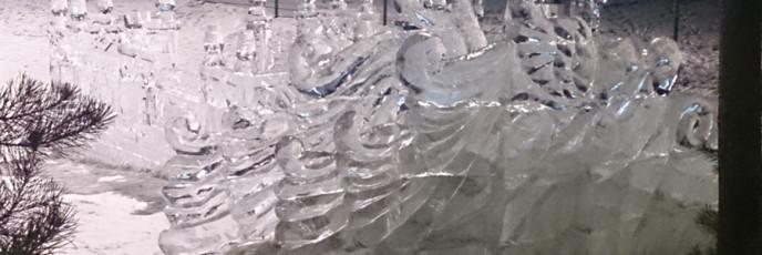 Ледяной городок в загородном клубе Лужки
