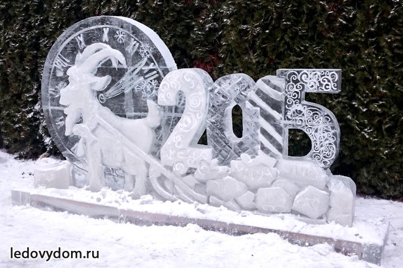 Новогоднее ледяное украшение