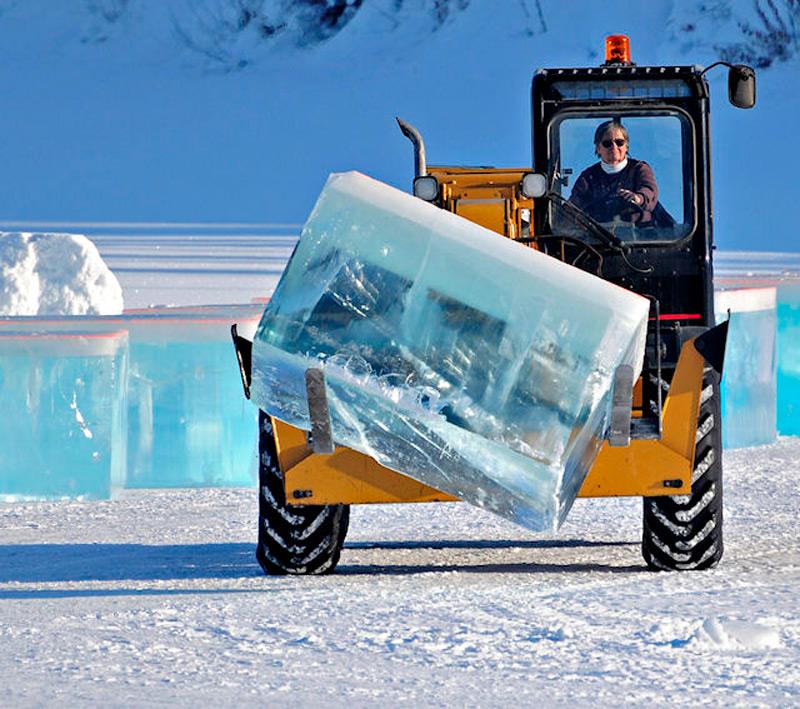 Перенос ледяных блоков