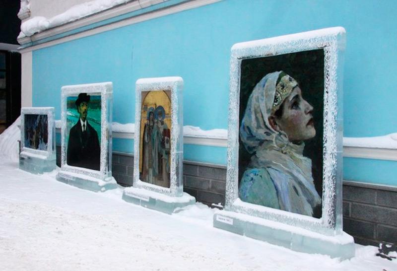 Ледяное обрамление для полотен Нестерова