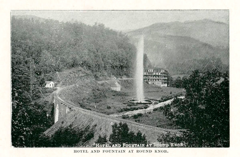 Гостиница Round Knob и гейзер
