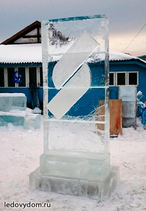 Изготовление ледяного логотипа