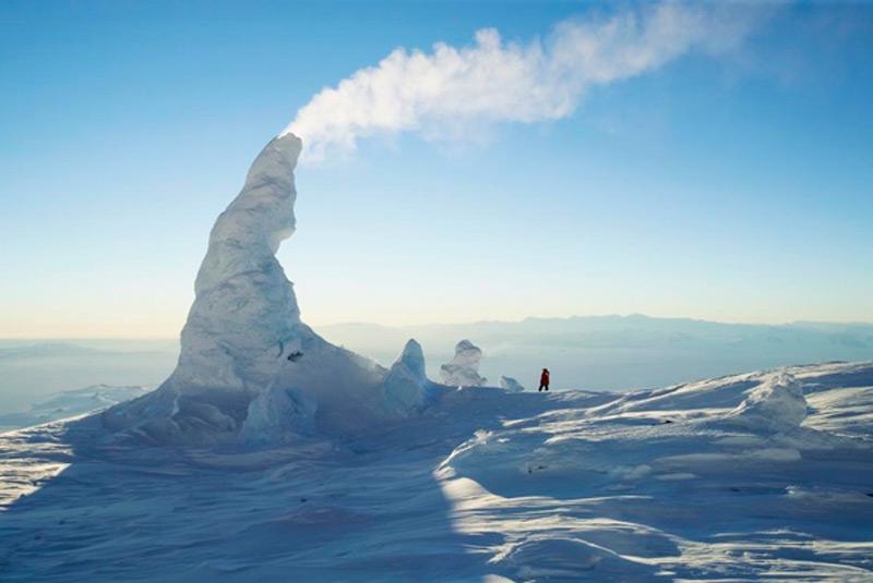 Ледяные трубы вулкана Эребус