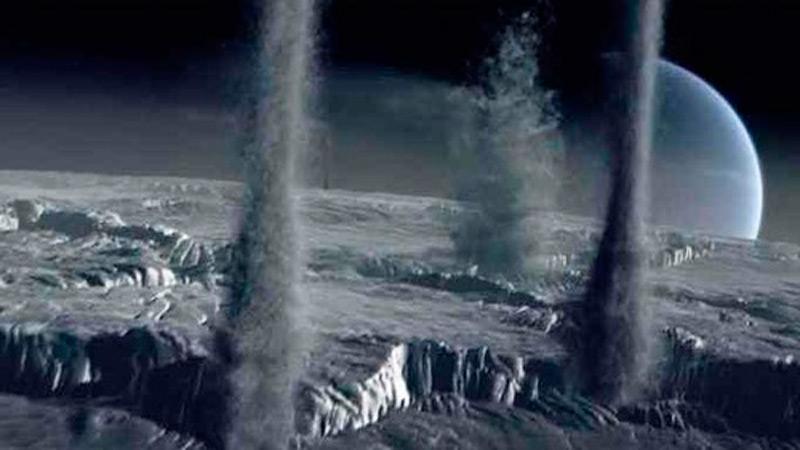 Илл.18. Ледяные гейзеры на Тритоне (художественное изображение)