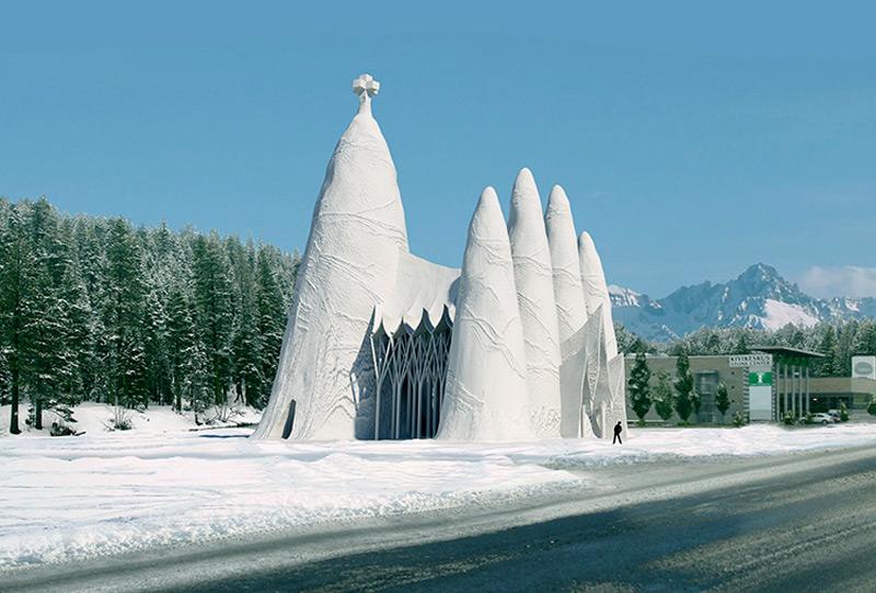 Проект ледяного храма Саграда Фамилия