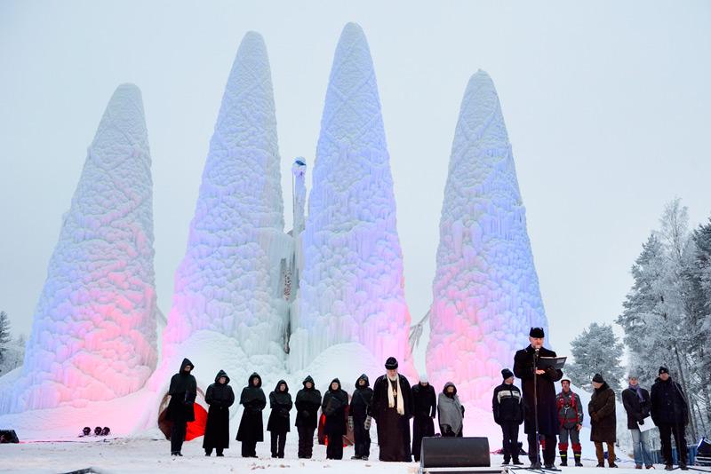 Открытие ледяного храма