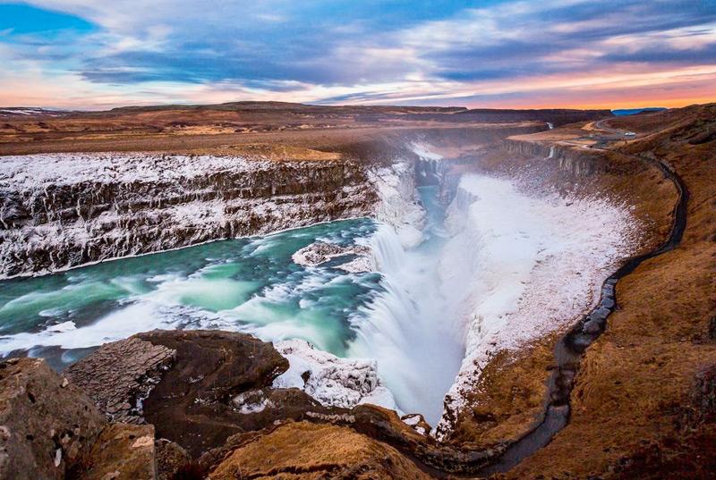 Золотой водопад (Гюльфосс), Исландия