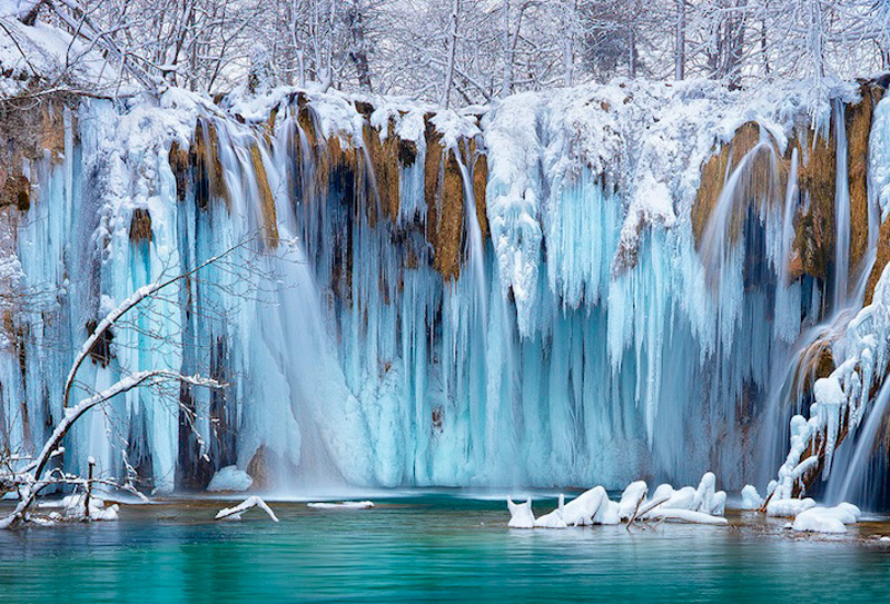 Водопад на Плитвицких озерах, Хорватия