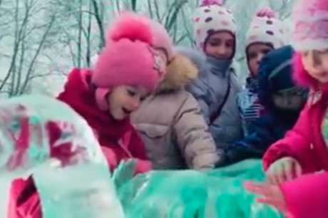 Ледяной слон для телеканала МИР