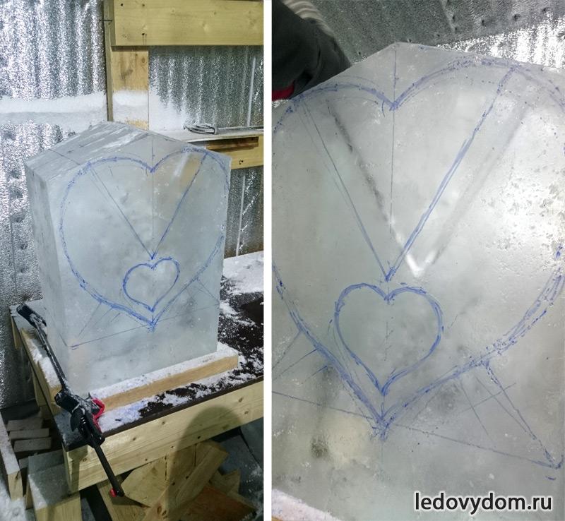 Разметка ледяной скульптуры