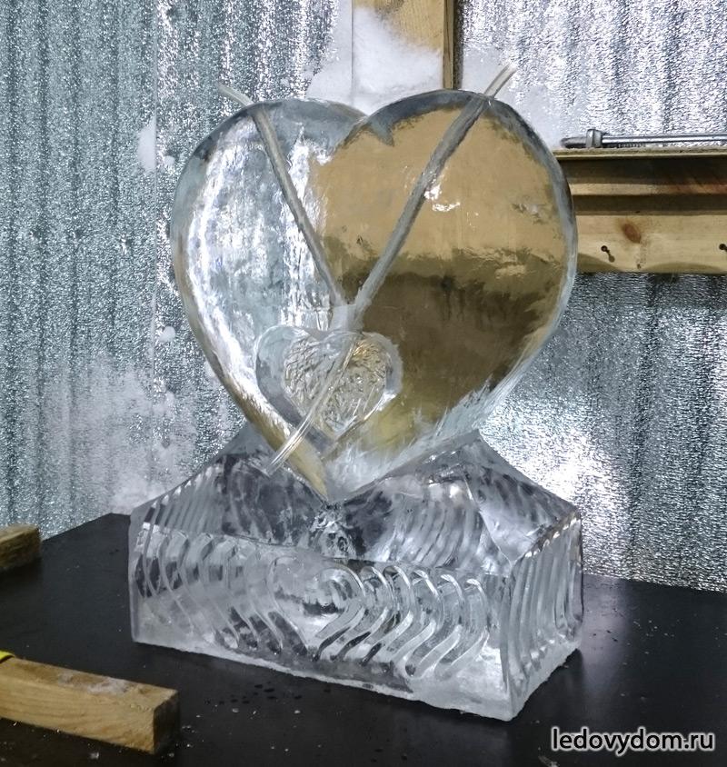 Ледяное сердце для смешивания напитков