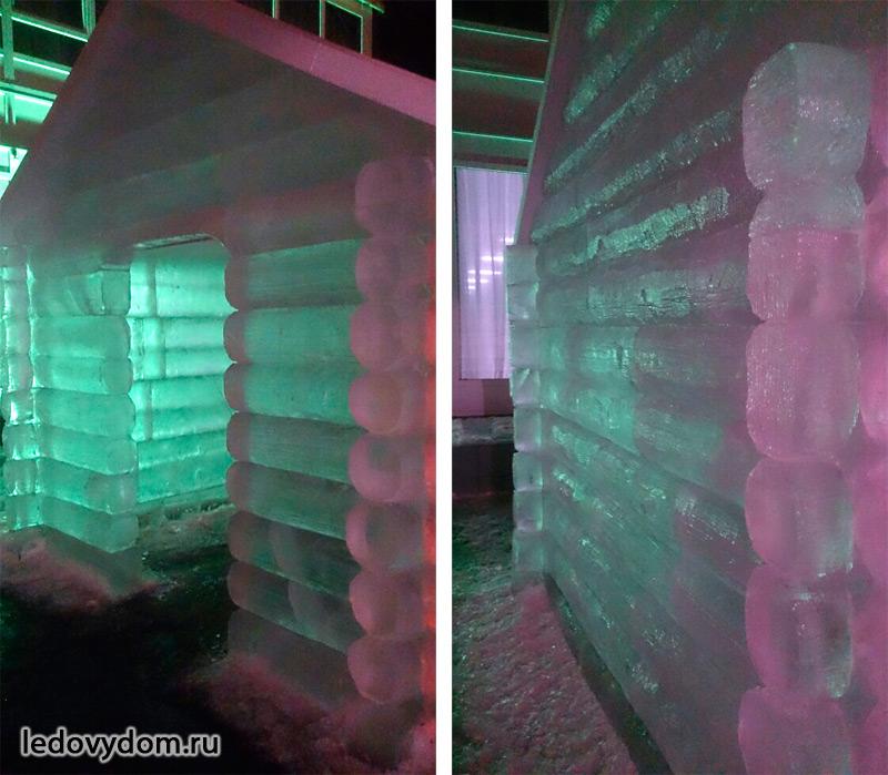 Деревянная фактура на ледяной поверхности