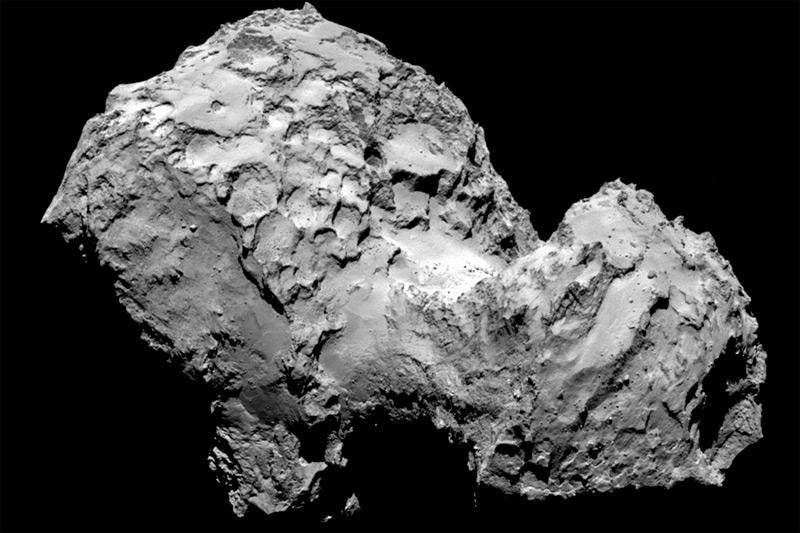 Илл.13. Снимок ядра кометы Чурюмова-Герасименко, сделанный аппаратом «Rosetta» в 2014 г.