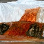 Кровавый водопад во льдах Антарктиды