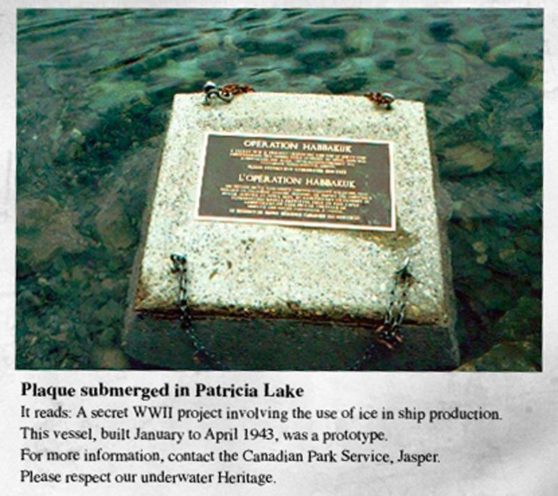 Мемориальная доска на озере Патриция.
